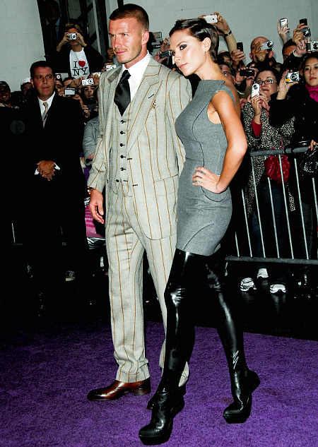 Victoria and David beckham fashion style in 2009
