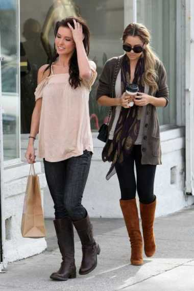 lauren-conrad-audrina-patridge-shopping-with-coffee